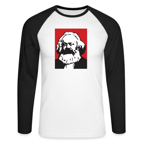 Karl Marx - Maglia da baseball a manica lunga da uomo