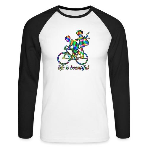 Life is beautiful - Männer Baseballshirt langarm