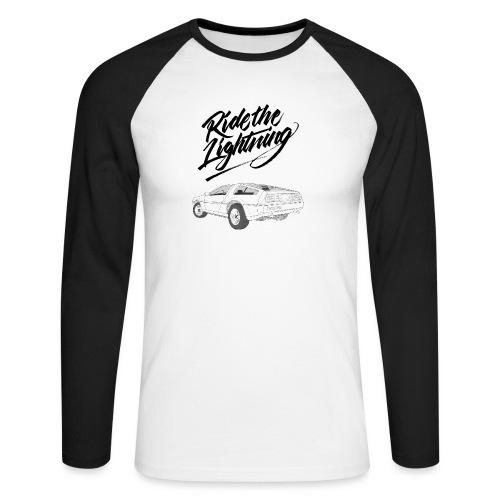 Delorean – Ride The Lightning - Männer Baseballshirt langarm