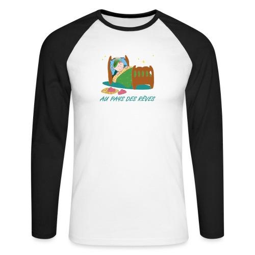 Personnage endormi - T-shirt baseball manches longues Homme