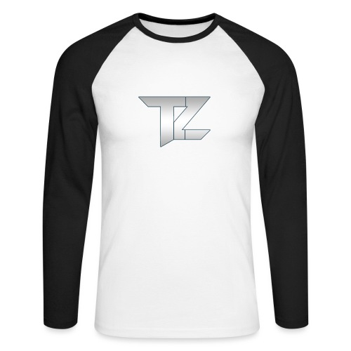 TZ LOGO Gradient png - Men's Long Sleeve Baseball T-Shirt