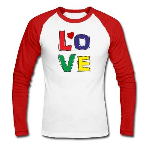 LOVE - Männer Baseballshirt langarm