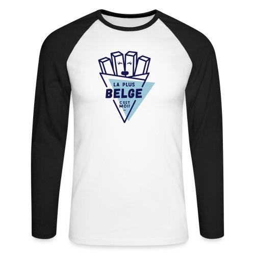 La+Belge - T-shirt baseball manches longues Homme
