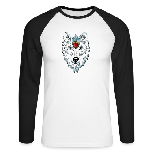 female wolf newschool - T-shirt baseball manches longues Homme