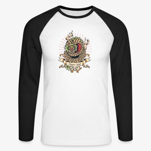 Drachengeist - Männer Baseballshirt langarm