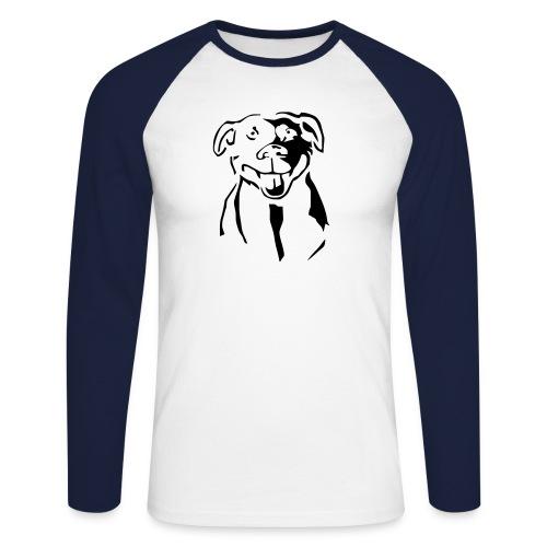 Staffordshire Bull Terrier - Miesten pitkähihainen baseballpaita