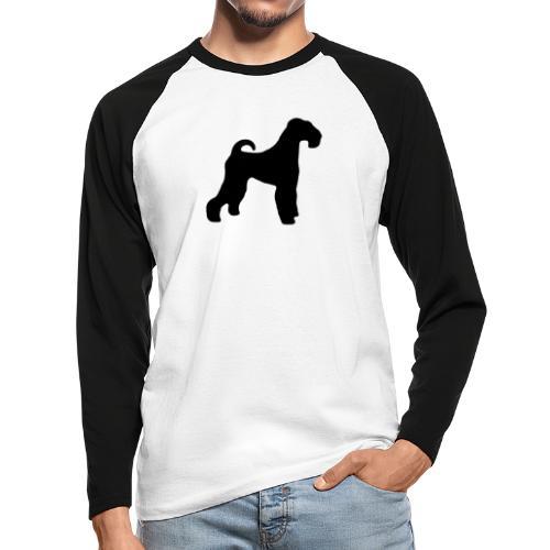 BLACK Airedale Terrier - Men's Long Sleeve Baseball T-Shirt