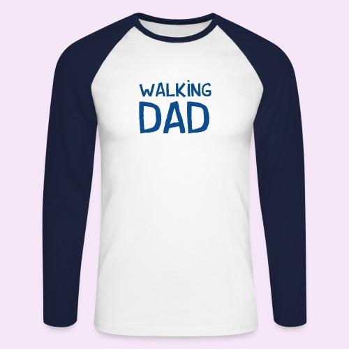 Vierdaagse Nijmegen - Walking Dad BLUE - Mannen baseballshirt lange mouw