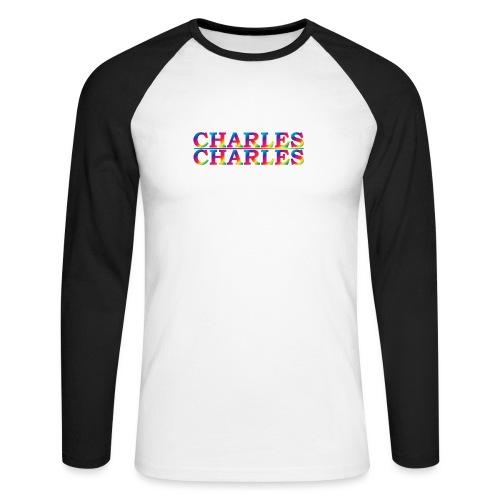CHARLES rainbow - Men's Long Sleeve Baseball T-Shirt