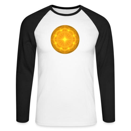 Golden Radiance Mandala Heart - Mannen baseballshirt lange mouw