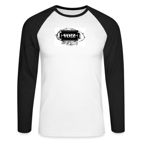 VOIZ weisses shirt - Männer Baseballshirt langarm
