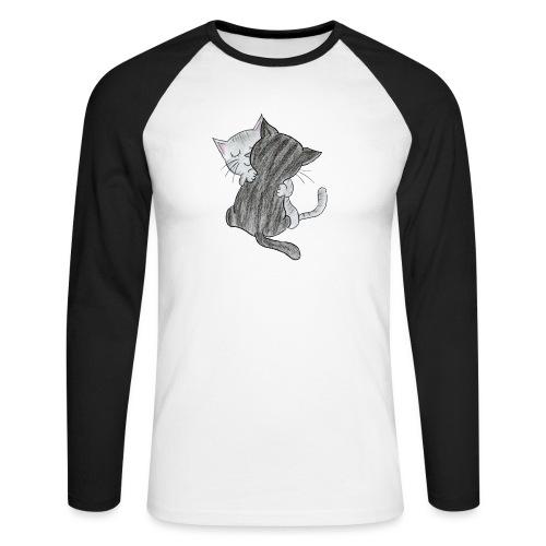 Katzen - Männer Baseballshirt langarm