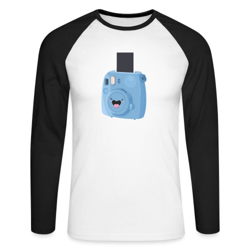 Appareil photo instantané bleu - T-shirt baseball manches longues Homme