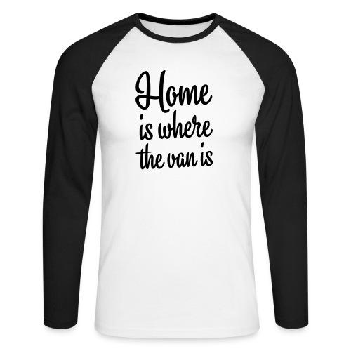 camperhome01b - Langermet baseball-skjorte for menn