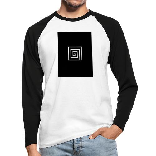 SquareSpiral - Men's Long Sleeve Baseball T-Shirt