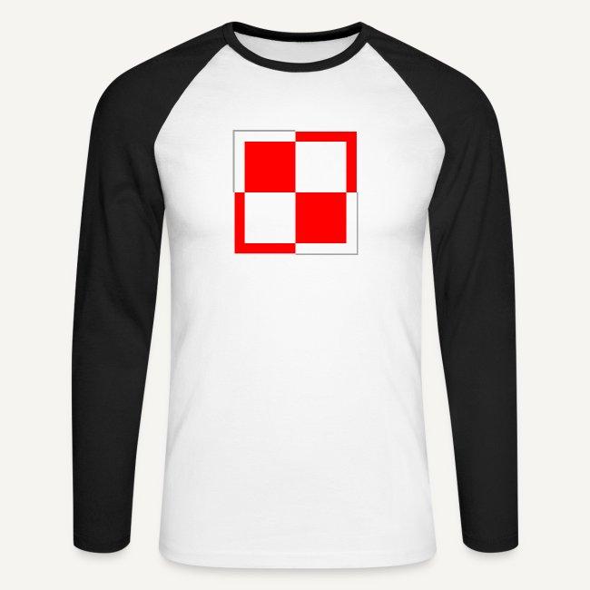 64ef3b108b7187 Koszulki historyczne | szachownica - Koszulka męska bejsbolowa z ...