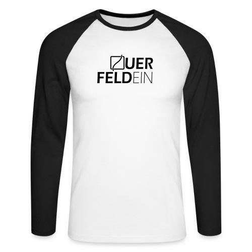 Querfeldein Logo - Männer Baseballshirt langarm