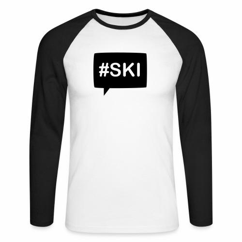 Hashtag Ski - T-shirt baseball manches longues Homme
