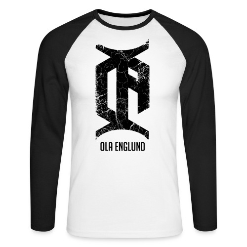 Distressed-Black - Men's Long Sleeve Baseball T-Shirt