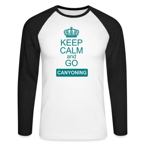 keep calm and go canyoning 2 - Männer Baseballshirt langarm