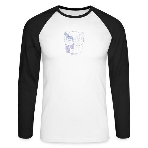 Eule - Männer Baseballshirt langarm