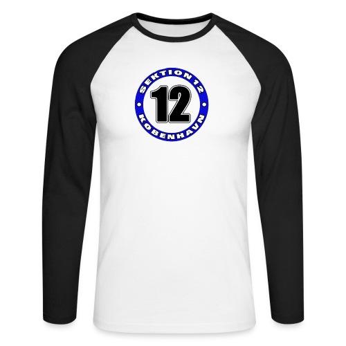 Udklip - Langærmet herre-baseballshirt
