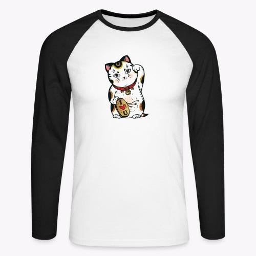 Love Lucky Cat - Men's Long Sleeve Baseball T-Shirt