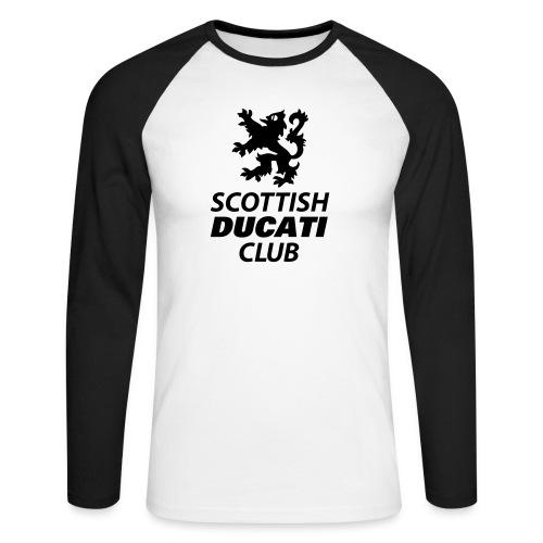 polo pocket 2 - Men's Long Sleeve Baseball T-Shirt