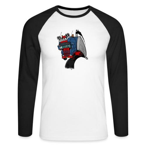 The flying skane man notext - Mannen baseballshirt lange mouw