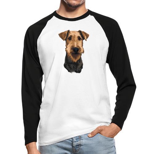 JUNO Airedale Terrier - Men's Long Sleeve Baseball T-Shirt