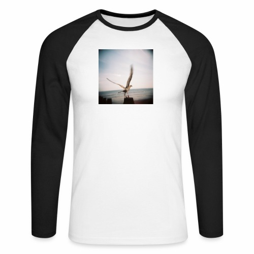 Original Artist design * Seagull - Men's Long Sleeve Baseball T-Shirt