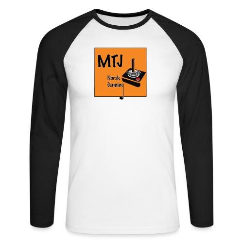 Mtj Logo - Langermet baseball-skjorte for menn