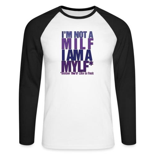 MYLF - Langermet baseball-skjorte for menn