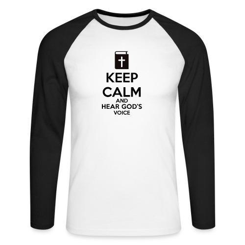 Keep Calm and Hear God Voice Meme - Raglán manga larga hombre