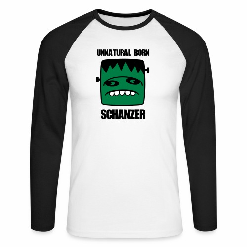 Fonster unnatural born Schanzer - Männer Baseballshirt langarm