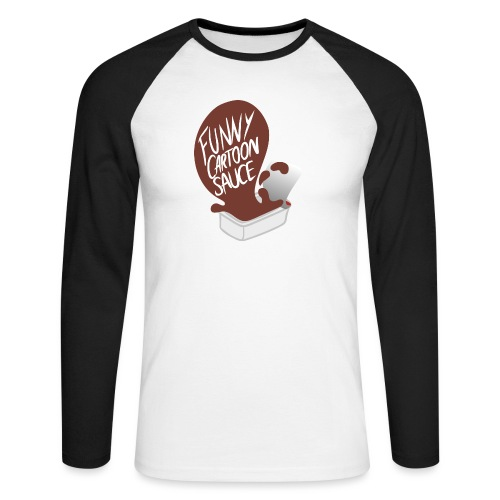 FUNNY CARTOON SAUCE - FEMALE - Men's Long Sleeve Baseball T-Shirt