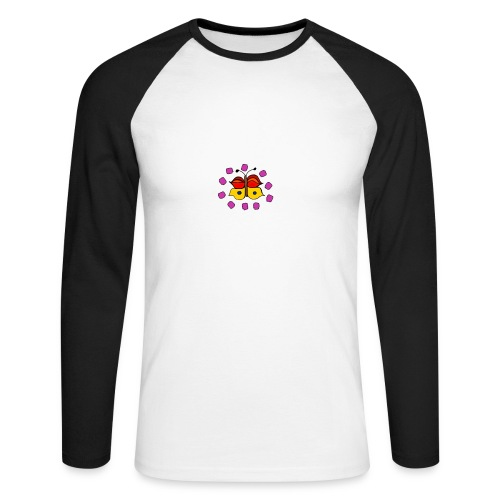 Butterfly colorful - Men's Long Sleeve Baseball T-Shirt