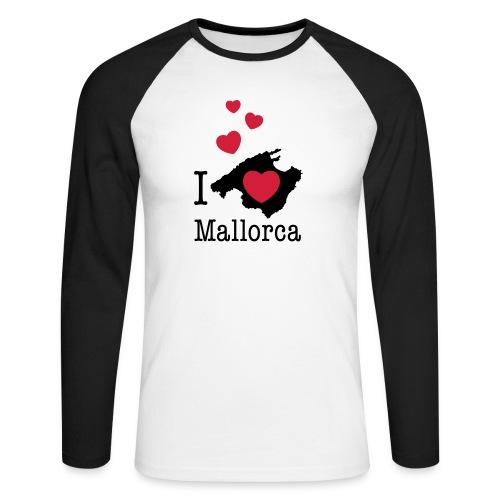 love Mallorca Balearen Spanien Ferieninsel Urlaub - Men's Long Sleeve Baseball T-Shirt