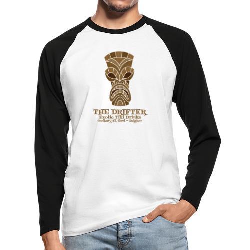 tshirt logo - Mannen baseballshirt lange mouw
