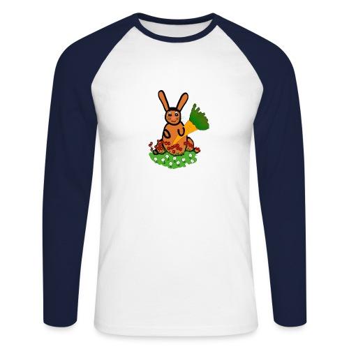 Rabbit with carrot - Men's Long Sleeve Baseball T-Shirt