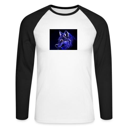 jeff wolf - Langermet baseball-skjorte for menn