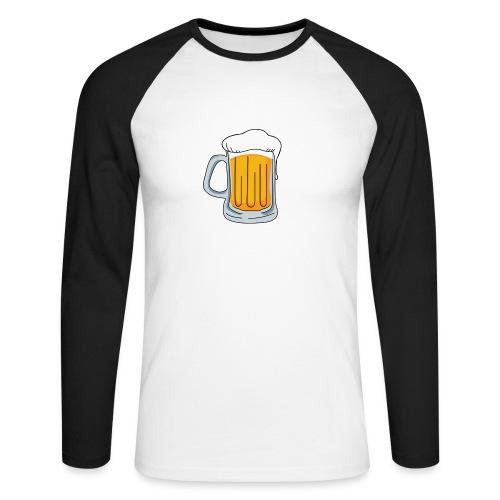 Biertje - Mannen baseballshirt lange mouw