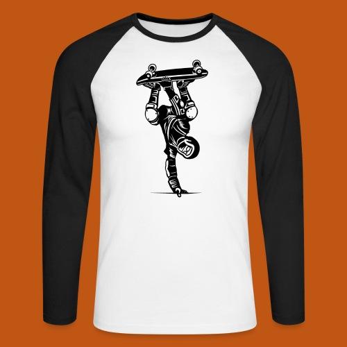 Skater / Skateboarder 02_schwarz - Männer Baseballshirt langarm