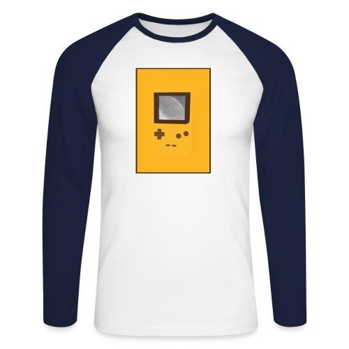 Game Boy Nostalgi - Laurids B Design - Langærmet herre-baseballshirt