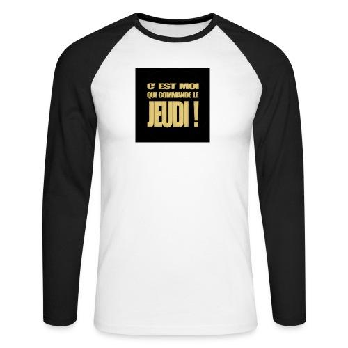 badgejeudi - T-shirt baseball manches longues Homme