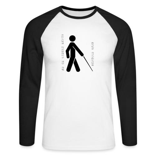Blind T-Shirt - Men's Long Sleeve Baseball T-Shirt