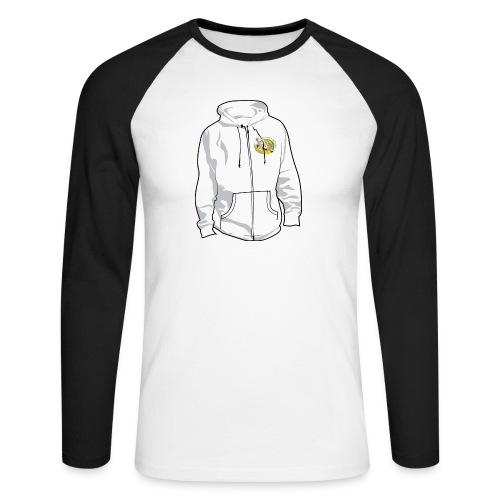 hoodyfront - Mannen baseballshirt lange mouw