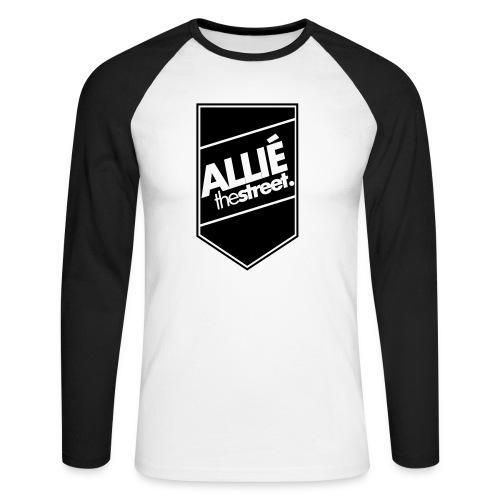 allie7 - Koszulka męska bejsbolowa z długim rękawem