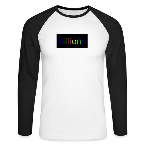 billions - Mannen baseballshirt lange mouw