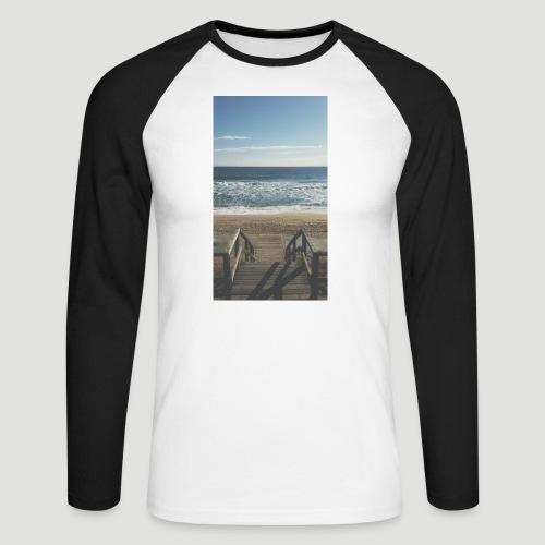Escalera a la playa - Raglán manga larga hombre